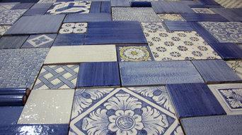 patchwork in blu