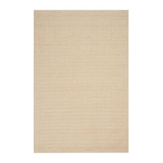 "Perris Wool 6'6""x9'6"" Rectangle Area Rug, Ivory"