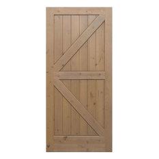 "Knotty Alder #181 Barn Door  - V-Groove Plank 2/6 x 7/0, 30""x84"""
