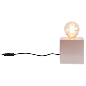 Florence Table Lamp, Black Cable, Copper