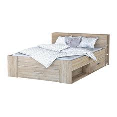 Pocket Euro King Panel Bed, Natural