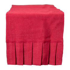"90"" Red Burlap Table Runner"