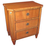 Consigned Gustavian Chest of Drawers, Sweden 1840 - Exquisite Gustavian commode, bleached mahogany veneer with brass decorations. Beautifully refinished and French polished.