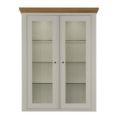 Somerdale Display Cabinet Top Unit, Coastal Grey