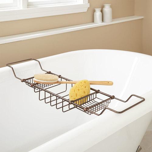 GERARD BRASS TUB CADDY   Bathroom Accessories