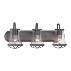Designers Fountain Designers Fountain Darby Bathroom Lighting Fixture Weathered Iron 3 Light