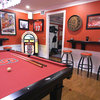 A Tricked-Out Basement for 2 College Basketball Super Fans