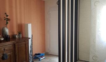 Décoration d'une entrée, d'un salon et d'une salle à manger