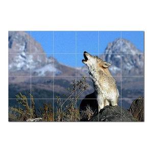 Wolf Wolves Ceramic Tile Mural Kitchen Backsplash Bathroom Shower 403142-M43