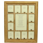 Northland Frames and Gifts - School Years Picture Frame Oak Frame and Oak Insert - Here at Northland Frames and Gifts we take School Picture Frames seriously! This 11x14 School Photo Frame is handmade. It includes a School Years insert, handmade oak frame, glass to protect your school pictures and insert, cardboard backing to hold everything in place, and a sawtooth hanger for hanging. The center School Photo opening measures 5 inches by 7 inches. The smaller School Picture openings measure 2 and 1/4 inch by 3 and 1/4 inch. This fits standard wallet size School Photos.This School Days K-12 is the perfect gift for mom, gift for dad, gift for yourself, mothers day gift, fathers day gift, christmas gift, any holiday gift or graduation gift. We look forward to helping you create the perfect School Years Collage to display all those great School Photos of your child.
