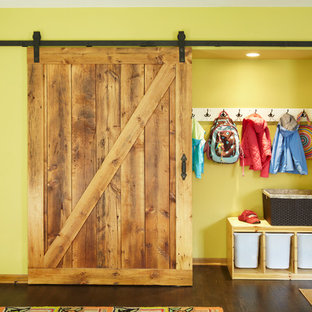 Built Ins with Barn Door