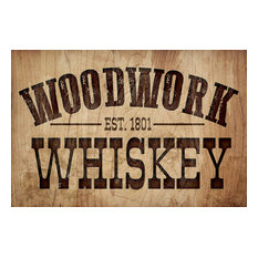 """Woodwork Whiskey"" Canvas Art, 24""x16"""