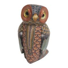 "Decorative OwlPolymer Clay Sculpture, 2.5"""