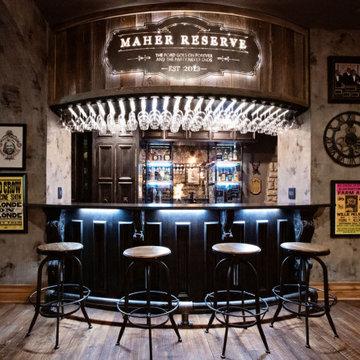 Steampunk inspired bar