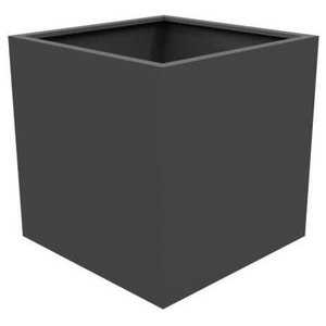 Adezz Aluminium Planter, Black Grey, Florida Cube, 70x70x70cm