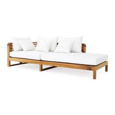 OASIQ Hamilton Chaise Lounge Arm Left With Canvas Natural Cushions