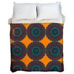 UBURepublic.com - Taj Mahal Boho Handwoven Moroccan Duvet Cover, UBU Republic, King - 500 Thread Count Heavyweight Brushed Poplin