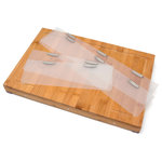 Lipper International - Bamboo Edge Guard Cutting Board with 4 Magnetic Acrylic Sides - Bamboo Edge Guard Cutting Board with 4 Magnetic Acrylic Sides