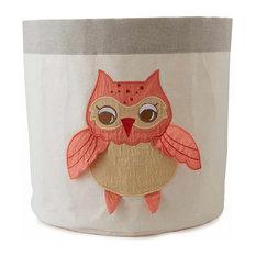 Small Baby Orange Owl Bin