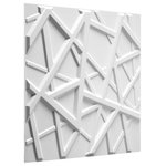 """WallArt - 3D Wall Panels, Olivia Design, Set of 12 - Embossed Wall Panels that will transform your interior walls with depth and create an amazing looking feature wall. The wall panels are made of natural plant fiber and are flexible, lightweight, paintable and easy to install. All our wall panels are sold in the natural off white color and therefore are paintable. Size is 19.68""""x19.68"""", 12 panels / box and covers 32.29 sq.ft/Box.  Give your focal wall the Wow factor with our 3D wall panels."""