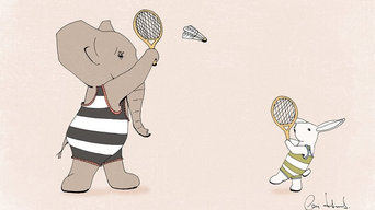 Nursery Art Print Badminton Game