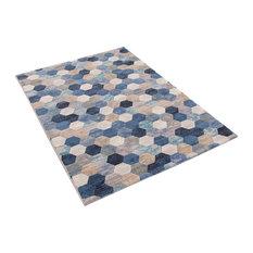 Galleria Blue Rectangle Modern Rug, 80x150 cm