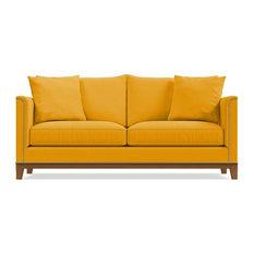La Brea Studded Sofa, Marigold Velvet