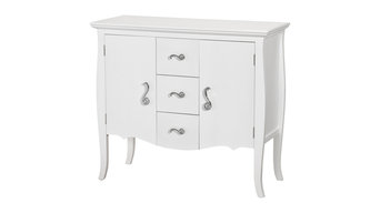White Romantic Console Cabinet With Three Drawers