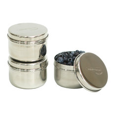U Konserve   Mini Stainless Steel Food Containers, Set Of 3   Kitchen  Canisters And