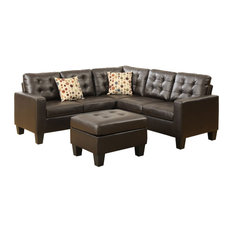 4-Pieces Modular Sectional, Espresso