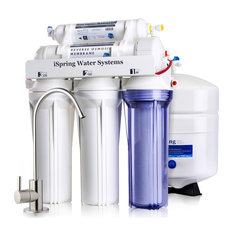 iSpring RCC7 Under Sink 5-Stage Reverse Osmosis Drinking Water Filtration System