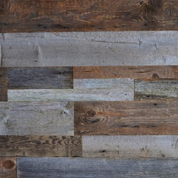 Shop houzz east coast rustic reclaimed wood wall covering diy barn - Shop Houzz Save On 3 Ways To Create A Textured Feature Wall