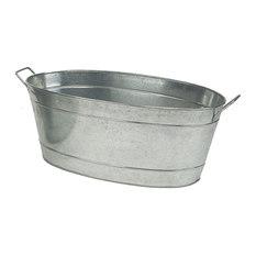 achla designs achla designs oval steel tub firewood racks - Firewood Racks