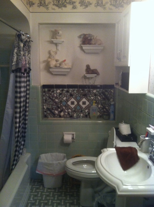 Marvelous Help For 50S Green Vintage Bathroom Wall Interior Design Ideas Gentotryabchikinfo