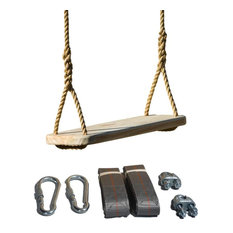 Wood Tree Swing Complete Kit - Premier Wooden Tree Swing for Adults or Children