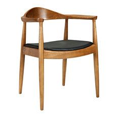 Modway Presidential Dining Arm Chair, Black