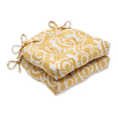 Amazing Pillow Perfect Inc   Babar Reversible Chair Pad, Set Of 2, Topaz   Seat