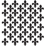 Fleur De Lis Pattern Wall Decal - Create your own patterned wall, ceiling, floor, window, and much more. Anything you can dream up you can create!
