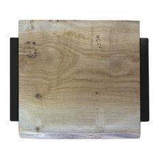 Square Natural Oak Chopping Board, Black