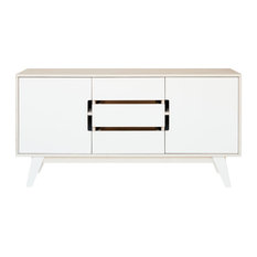 HUH Sideboard With Three Doors, White