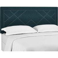 Modway Reese Nailhead Full Queen Linen Fabric Headboard MOD-5844-AZU