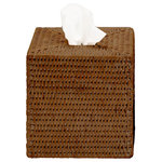 DWBA Bath Collection - DWBA Malacca Square Tissue Box Holder Cover Tray Dispenser Tissue Case, Rattan - DWBA Malacca Square Tissue Box Holder Cover Tray Dispenser Tissue Case - Rattan. Countertop hand towel box. For tissue paper or towels. Created to bring everlasting beauty; and designed to increase the level of elegance in your bathroom by giving it a unique touch of elegance.