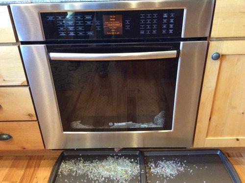 During The Process, The Inner Middle Glass Shattered. Can One Use The  Self Cleaning Option On A Bosch, Or Is That Just To Make The Sale?