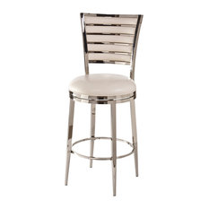 Hillsdale Furniture Hillsdale Rouen Swivel Stool in Shiny Nickel Inch Bar Stools