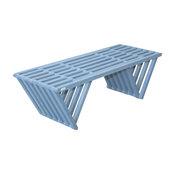 GloDea Wood Garden Bench, X90, Sky Blue, By Ignacio Santos