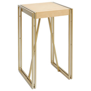 b75534cfd8ee Hudson Wood and Metal Accent Table