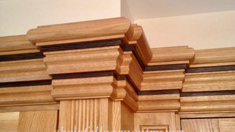 Oak Crown Moulding with Wenge Inlay