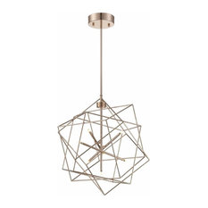 Lite Source LS-19855 Stacia 7 Light LED Chandelier, French Gold