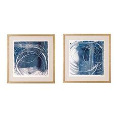 Glace' Blues Framed Art Print