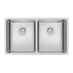 "31"" X 18"" 50/50 Double Bowl Stainless Steel Undermount Kitchen Sink"